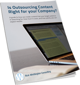 Ebook cover - Is outsourcing content right for your company?